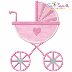 Baby Girl Stroller Applique Design