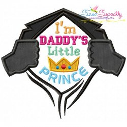 Daddy's Little Prince Applique Design