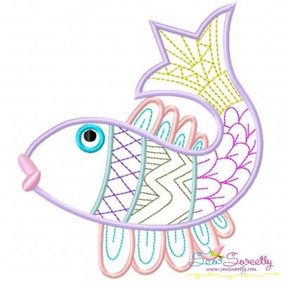 Magic Fish-02 Embroidery Design