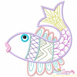 Magic Fish-02 Embroidery Design