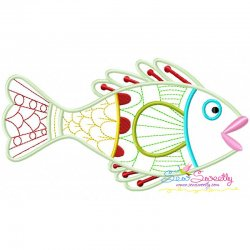 Magic Fish-01 Embroidery Design