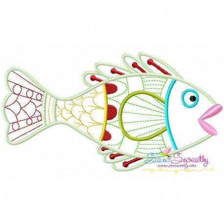 Magic Fish-01 Embroidery Design