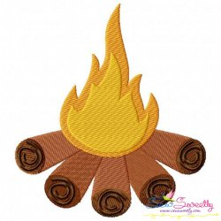 Campfire Machine Embroidery Design