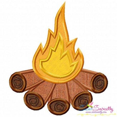 Campfire Applique Design