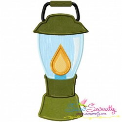Lantern Machine Applique Design