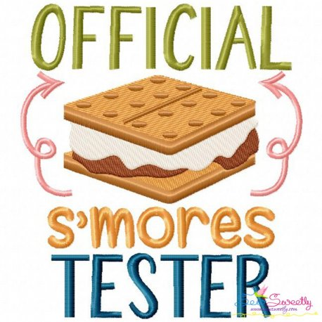 Official S'mores Tester Embroidery Design