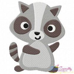 Raccoon Embroidery Design
