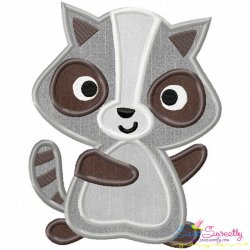 Raccoon Applique Design