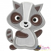 Raccoon Applique Design