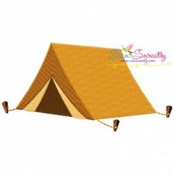 Camping Tent Machine Embroidery Design