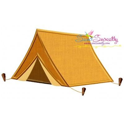 Camping Tent Applique Design