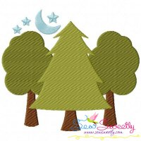 Trees Machine Embroidery Design