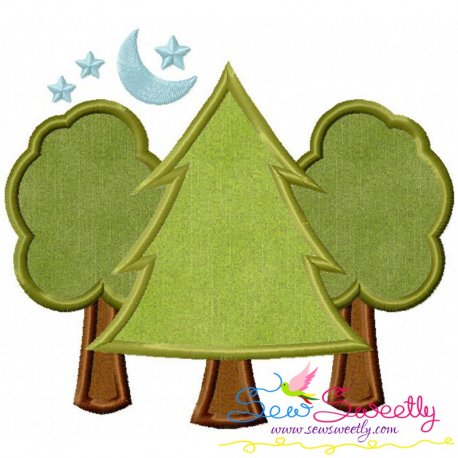 Trees Machine Applique Design