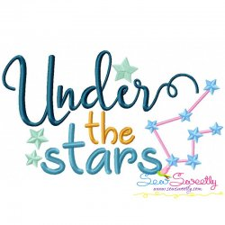Under The Stars Embroidery Design