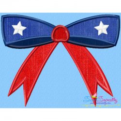 4th of July Bow Patriotic Applique Design
