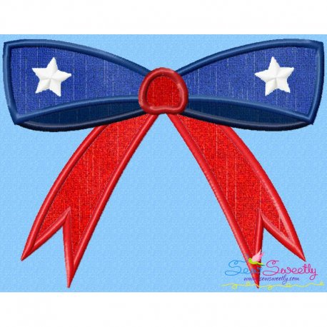 4th of July Bow Applique Design