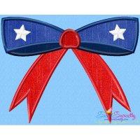 4th of July Bow Patriotic Applique Design