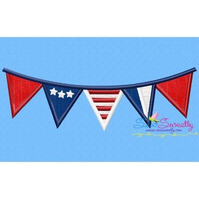 4th of July Buntings Patriotic Applique Design
