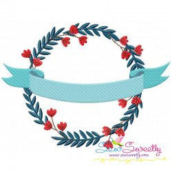 4th of July Floral Frame-2 Patriotic Embroidery Design