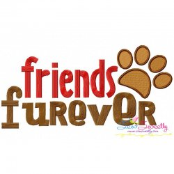 Friends Furever Embroidery Design