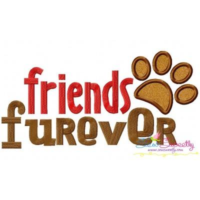 Friends Furever Applique Design