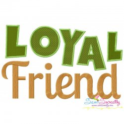 Loyal Friend Embroidery Design