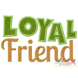 Loyal Friend Applique Design