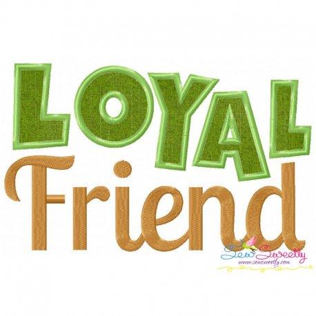 Loyal Friend Applique Design