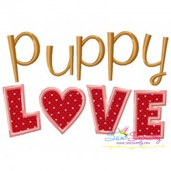 Puppy Love Applique Design