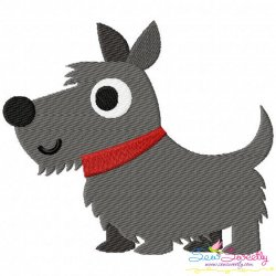 Scottie Dog Embroidery Design