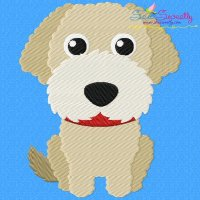 Mini Labradoodle Dog Embroidery Design