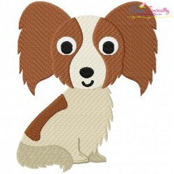 Papillon Dog Embroidery Design