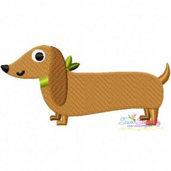 Dachshund Dog Embroidery Design