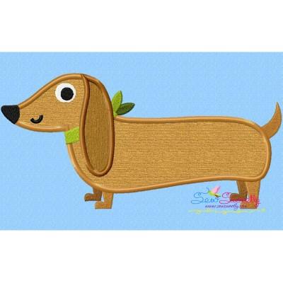 Dachshund Dog Applique Design