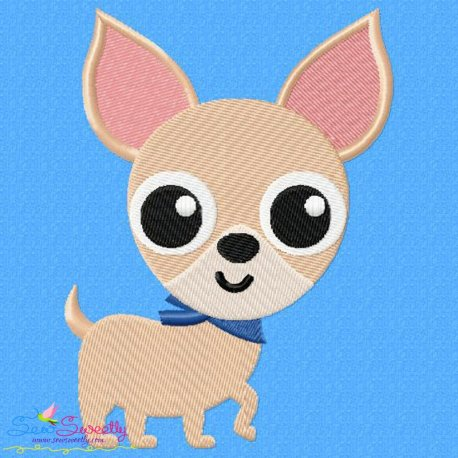 Chihuahua Dog Embroidery Design