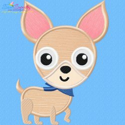 Chihuahua Dog Applique Design