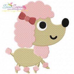 Toy Poodle Dog Embroidery Design