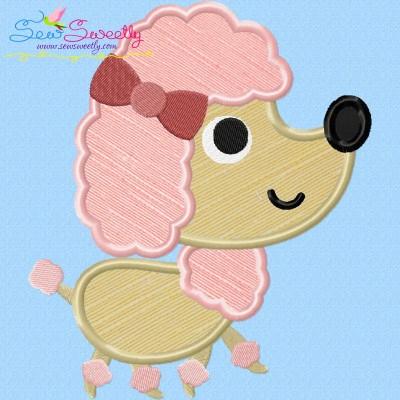 Toy Poodle Dog Applique Design