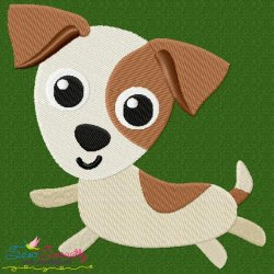 Jack Russell Dog Embroidery Design