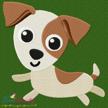 Jack Russell Dog Embroidery Design Pattern- Category- Animals Designs- 1