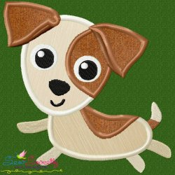 Jack Russell Dog Applique Design