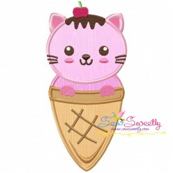 Kitty Cone Applique Design