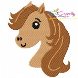 Horse Head Boy Embroidery Design