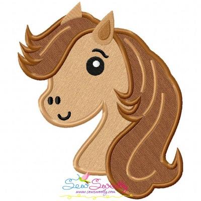 Horse Head Boy Applique Design
