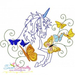 Magic Unicorn-2 Embroidery Design