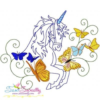 Magic Unicorn-2 Embroidery Design