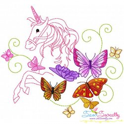 Magic Unicorn-3 Embroidery Design