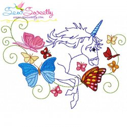 Magic Unicorn-4 Embroidery Design