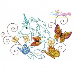 Magic Unicorn-5 Embroidery Design