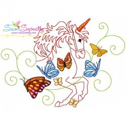 Magic Unicorn-6 Embroidery Design
